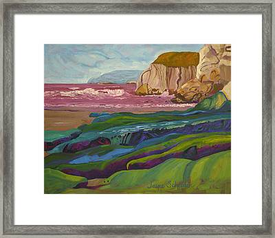 Greens And Blues Of Pismo Framed Print