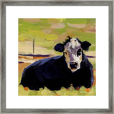 Greens Framed Print by Molly Poole