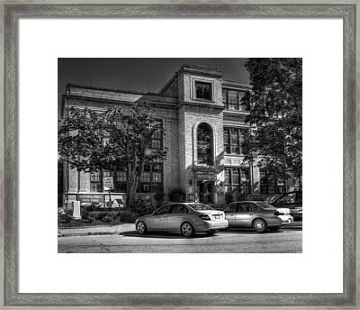 Greensburg Junior High School Framed Print by Coby Cooper