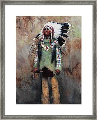Greenshirt Framed Print by Ainsley McNeely