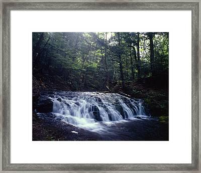 Greenstone Falls Framed Print by Tim Hawkins