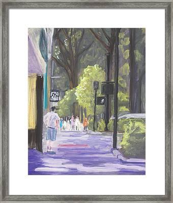 Greenville Street Scene Framed Print