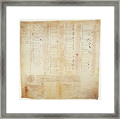 Greenville Treaty, 1795 Framed Print by Granger