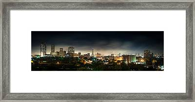 Greenway Plaza And The Galleria Framed Print