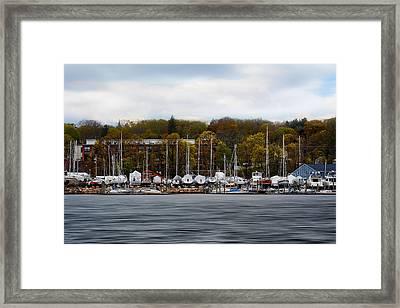 Greenwich Harbor Framed Print by Lourry Legarde