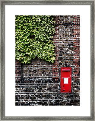 Greenwich Post Box Framed Print by Mark Rogan