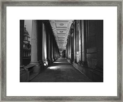 Greenwich Royal Naval College Hdr Bw Framed Print by David French
