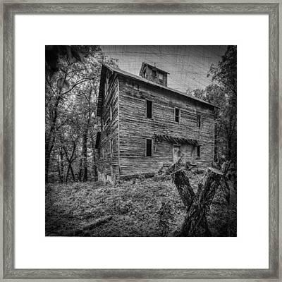 Greer Mill Black And White Framed Print by Paul Freidlund