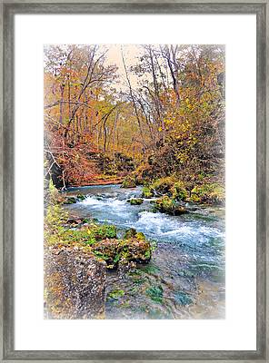 Greer Spring In Fall Framed Print by Marty Koch