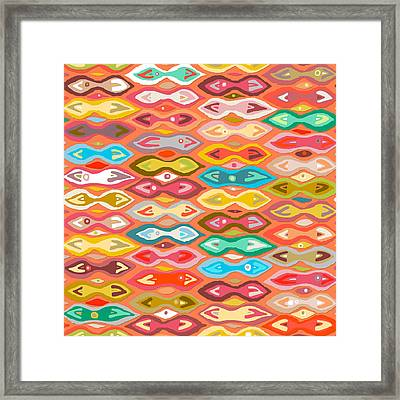 Greeshma Ikat Framed Print