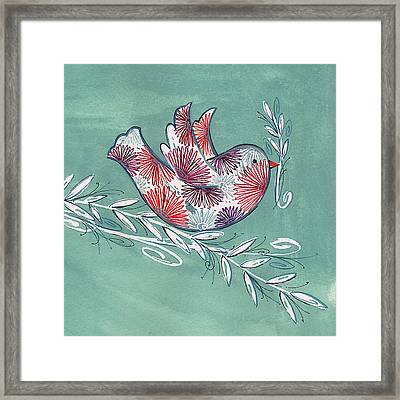 Greeting Bird Framed Print