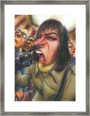 Greeting Card Flu Season Woman About To Sneeze Framed Print
