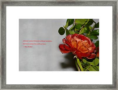 Greeting Of Love Framed Print by Sonali Gangane