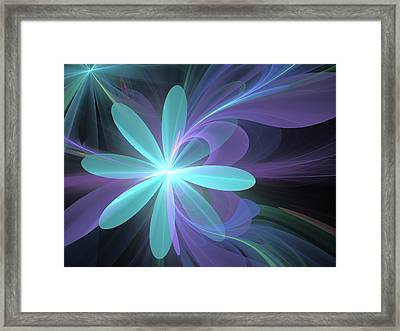 Framed Print featuring the digital art Greetings From Ethereal Realms by Svetlana Nikolova