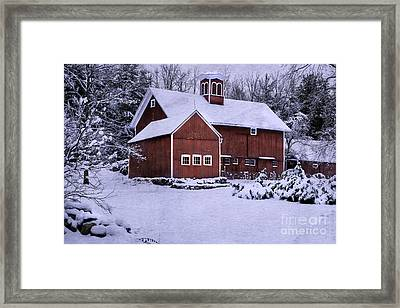 Greetings From New England Framed Print by Thomas Schoeller