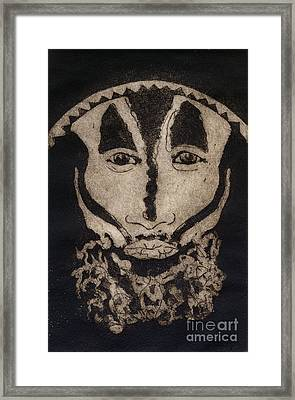 Greetings From New Guinea - Mask - Tribesmen - Tribesman - Tribal - Jefe - Chef De Tribu Framed Print