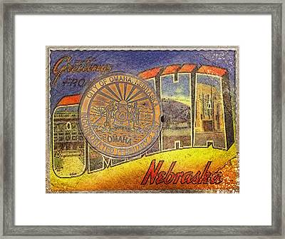Greetings From Omaha Framed Print by John Anderson