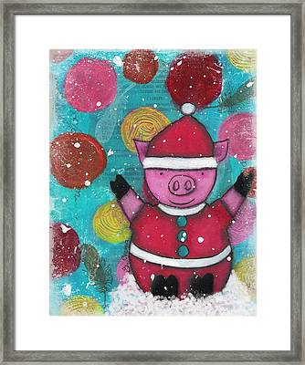 Greetings From The North Pig Framed Print
