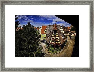 Greetings From The Wall Framed Print