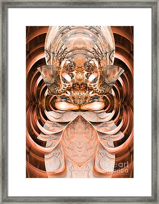 Greetings Inhabitants Of Earth Framed Print