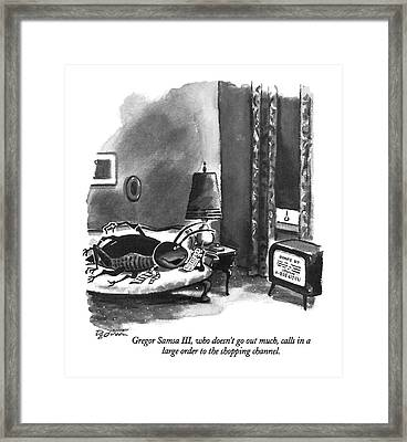 Gregor Samsa IIi Framed Print by Eldon Dedini