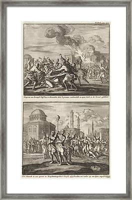 Gregory, A Bishop, Being Ill-treated By Opponents Framed Print
