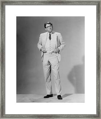 Gregory Peck In To Kill A Mockingbird  Framed Print