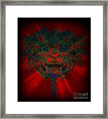 Gremlin In Dynamic Color Framed Print