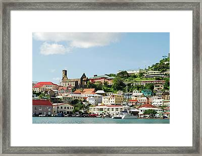 Grenada, St George, Carenage, View Framed Print by Anthony Asael