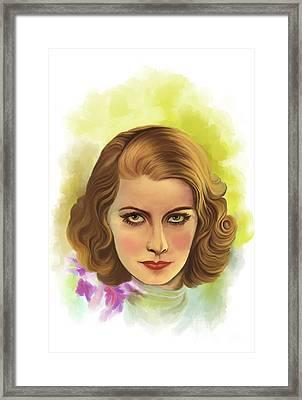 Greta Garbo Framed Print by Andrzej Szczerski