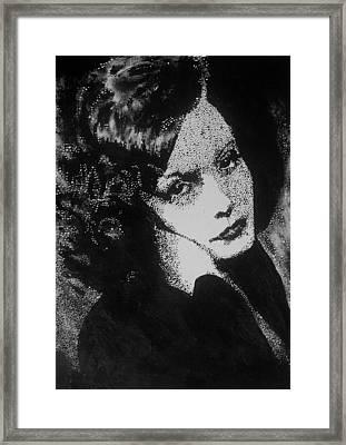 Greta Garbo Framed Print by Cherise Foster