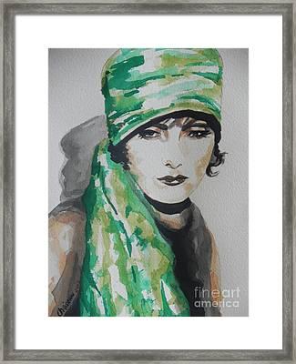 Greta Garbo Framed Print by Chrisann Ellis