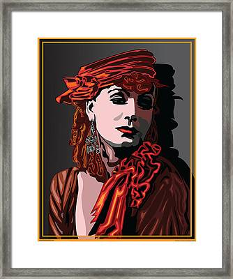 Greta Garbo Hollywood The Golden Age Framed Print by Larry Butterworth
