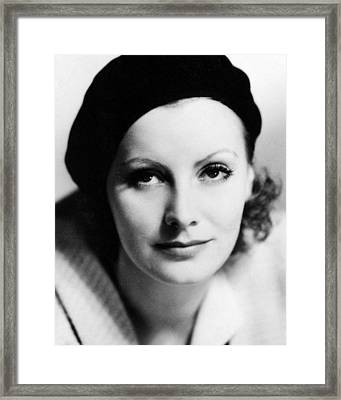 Greta Garbo In The Kiss  Framed Print by Silver Screen