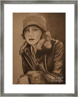 Greta Garbo Framed Print by Lorelle Gromus