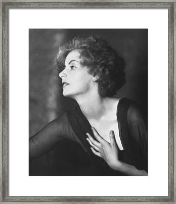 Greta Garbo Portrait Framed Print by Arnold Genthe