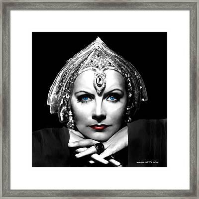Greta Garbo Portrait Framed Print