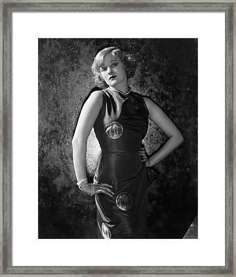 Greta Nissen Wearing A Dress Framed Print