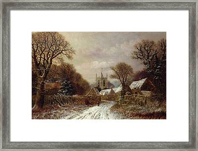Gretton In Northamptonshire Framed Print by Charles Leaver