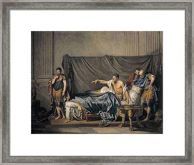Greuze, Jean Baptiste 1725-1805 Framed Print by Everett