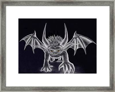 Grevil Silvered Framed Print by Shawn Dall