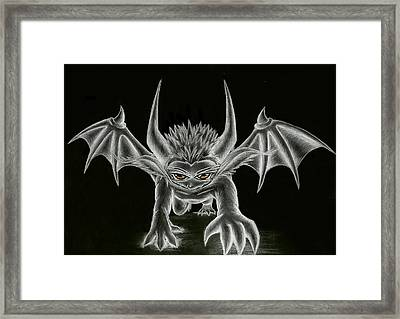 Grevil Statue Framed Print by Shawn Dall
