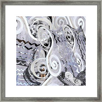 Grey Abstraction 1 Framed Print by Eva-Maria Becker
