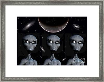 Grey Alien Clones Framed Print by Mark Stevenson
