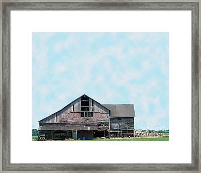 Framed Print featuring the photograph Grey Barn by Gena Weiser