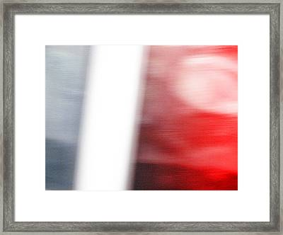 Grey Becoms Red Framed Print by Mieczyslaw Rudek
