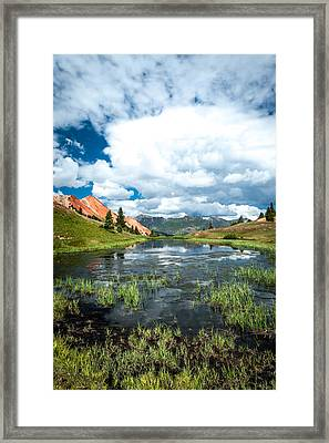 Framed Print featuring the photograph Grey Copper Gulch by Jay Stockhaus
