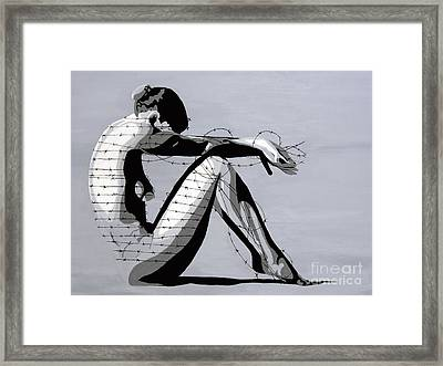 Grey Framed Print