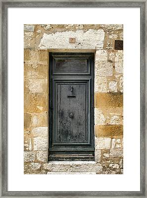 Grey Door Number 2 Framed Print