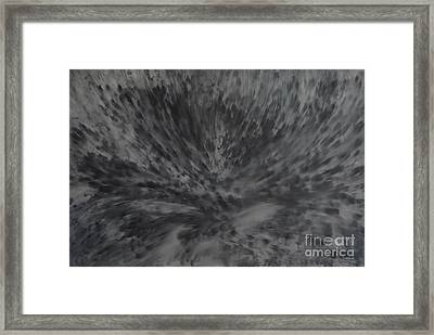 Framed Print featuring the painting Grey Emotions In Motion by Stuart Engel